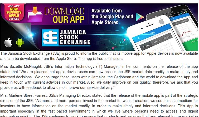JSE Mobile App - Caribbean Value Investor