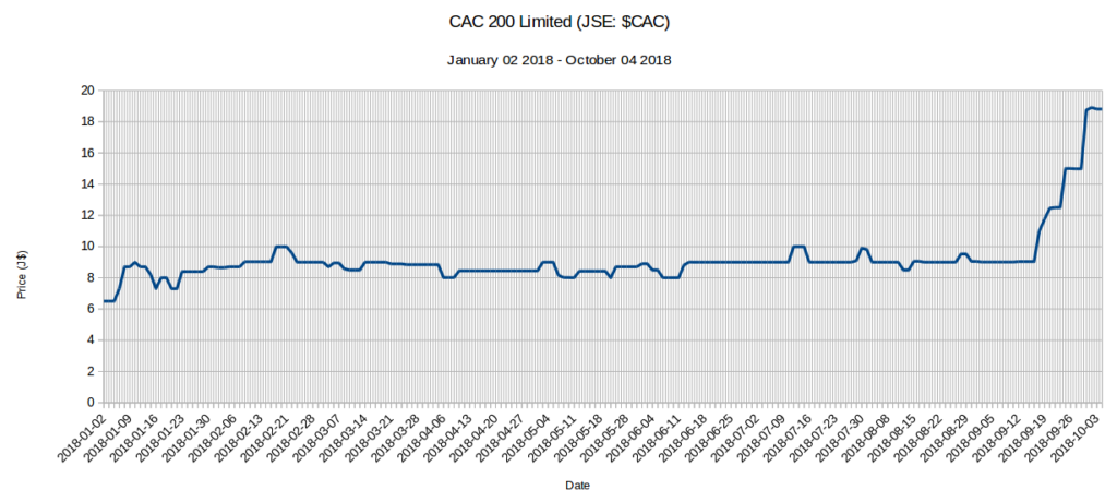5 JSE Stocks up 100% - CAC