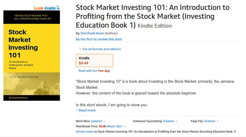Stock Market Investind 101 - Devrhoid Davis
