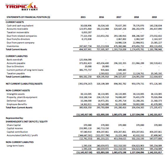Tropical Battery- IPO Balance Sheet - Caribbean Value Investor Corporation